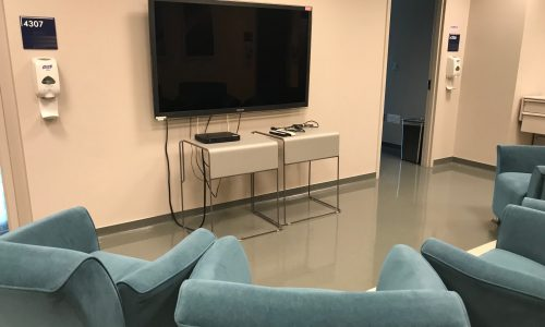 Inpatient Unit Lounge Area TV
